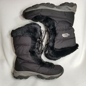 The North Face 6 Nuptse Goose Lace up Boots